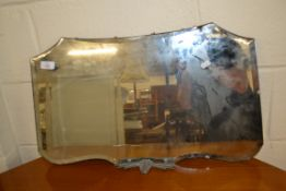 ART DECO STYLE WALL MIRROR, APPROX 64CM WIDE
