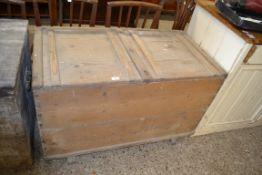 VINTAGE PINE STORAGE BOX, WIDTH APPROX 119CM