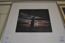 PRINT OF A SUNSET BY SUSAN JAMIESON