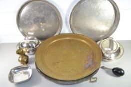 TRAY CONTAINING FLATWARES, SERVING DISHES, MUFFIN DISH