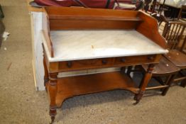19TH CENTURY MARBLE TOPPED WASH STAND, APPROX 108 X 53CM