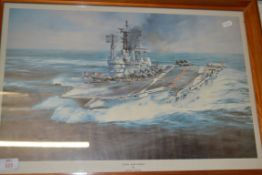 PRINT OF HMS ARK ROYAL