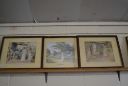 SERIES OF PRINTS - MARKET DAY, A SUMMERS GARDEN ETC