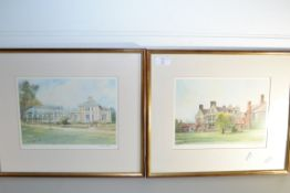 TWO PRINTS SIGNED DAVID TORKING