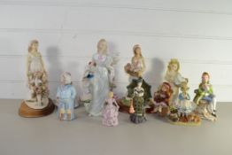 CERAMIC FIGURES OF GIRLS, SOME BY PAST TIMES