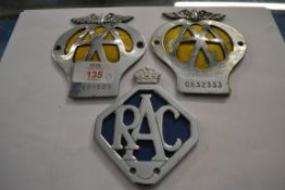 TWO AA AND ONE RAC BADGES