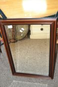 REPRODUCTION WOOD FRAMED WALL MIRROR, APPROX 54 X 78CM