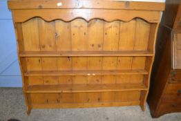 STAINED PINE DRESSER TOP, WIDTH APPROX 142CM