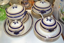 DINNER SERVICE BY BISTO INCLUDING TWO SMALL SAUCE TUREENS, TWO FURTHER TUREENS, DINNER PLATES,