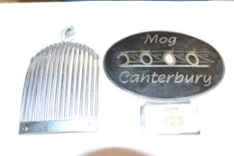 BADGE FOR MORGAN CANTERBURY AND METAL GRILLE