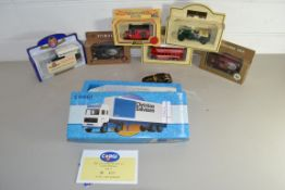 BOXED CORGI CHRISTAN SALVESAN LORRY IN ORIGINAL BOX, TOGETHER WITH FURTHER PLASTIC BOX CONTAINING