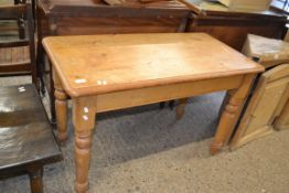 WAXED PINE SIDE TABLE, APPROX 107 X 54CM