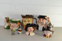 QTY OF TOBY JUGS INCLUDING SOME BY WOOD & SONS, ANNE BOLEYN, SYLVAC MR PICKWICK ETC