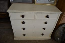 PAINTED CHEST OF DRAWERS, WIDTH APPROX 106CM