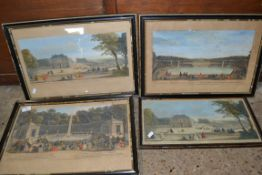 GROUP OF PRINTS INCLUDING VIEW OF THE PALACE OF SEAUX, BY ROBERT SAYER AND OTHERS