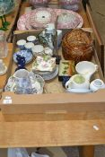 CERAMICS INCLUDING A TUREEN WITH GAME FINIAL