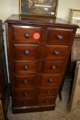 EARLY 20TH CENTURY 12-DRAWER SPICE CHEST, WIDTH APPROX 60CM