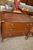 MID-20TH CENTURY CHEST OF DRAWERS, WIDTH APPROX 88CM