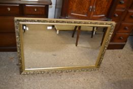 REPRODUCTION GILT FRAMED WALL MIRROR, APPROX 97 X 67CM
