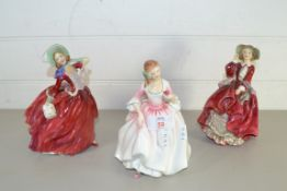 THREE ROYAL DOULTON FIGURES INCLUDING TOP O THE HILL