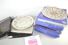 BOXED SET OF WEDGWOOD COLLECTORS PLATES WITH SOME ANNUAL EDITIONS 1986 ETC