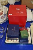 BOXED SET OF ROYAL WORCESTER RAMEKINS IN THE EVESHAM PATTERN, TOGETHER WITH HAMMERSLEY PILL BOX ETC,