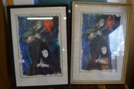 PAIR OF FRAMED OPERATIC INTEREST PRINTS, EACH FRAME WIDTH APPROX 40CM