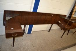 1960S RETRO MEREDEW BEDHEAD WITH INTEGRAL TABLE, WIDTH APPROX 212CM