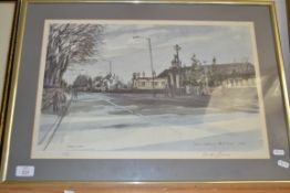 PRINT OF HARRIS ACADEMY, PERTH ROAD, BY GORDON LAIRD