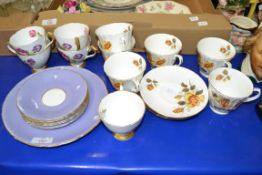 PART TEA SET BY SUTHERLAND TO INCLUDE CUPS, SAUCERS AND SIDE PLATES
