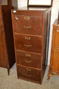 VINTAGE WOODEN FOUR DRAWER FILING CABINET, WIDTH APPROX 49CM