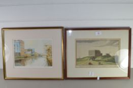 TWO PRINTS, ONE OF THE NORWICH CASTLE
