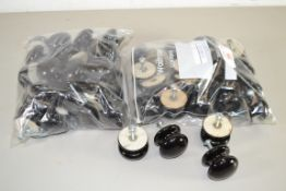 QTY OF SMALL BLACK COLOURED DOOR KNOBS