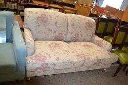 MODERN NEPTUNE TWO SEATER FLORAL SOFA, LENGTH APPROX 175CM