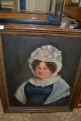 OIL ON BOARD OF A VICTORIAN LADY