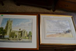 TWO WATERCOLOURS BY PAUL DALEY