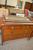 REPRODUCTION CHEST OF TWO SHORT OVER THREE LONG DRAWERS, WIDTH APPROX 105CM