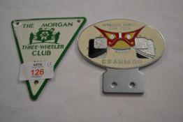 BADGE FOR THE MORGAN THREE WHEELER CLUB ETC