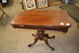 VICTORIAN FOLD TOP CARD TABLE, WIDTH APPROX 91CM