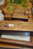 QTY OF WOODEN BOXES WITH DUTCH SCENES