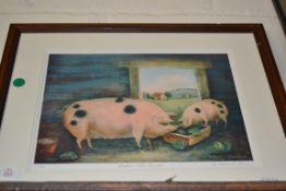 PRINT OF PIGS