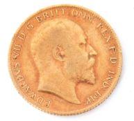 Edward VII gold half sovereign dated 1907