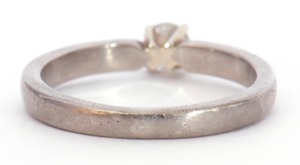 Precious metal single stone diamond ring featuring a round brilliant cut diamond, 0.20ct approx, - Image 5 of 7