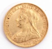 Victoria gold sovereign dated 1894