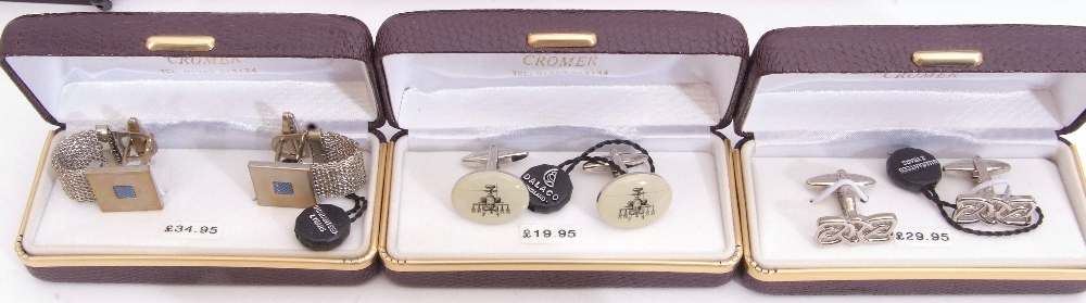 Mixed Lot: ten cased gents cuff links - Image 3 of 4