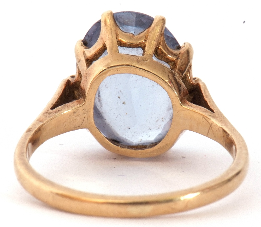 Mixed Lot: 9ct gold blue and paste set dress ring, the oval faceted multi-claw set and raised in a - Image 6 of 9