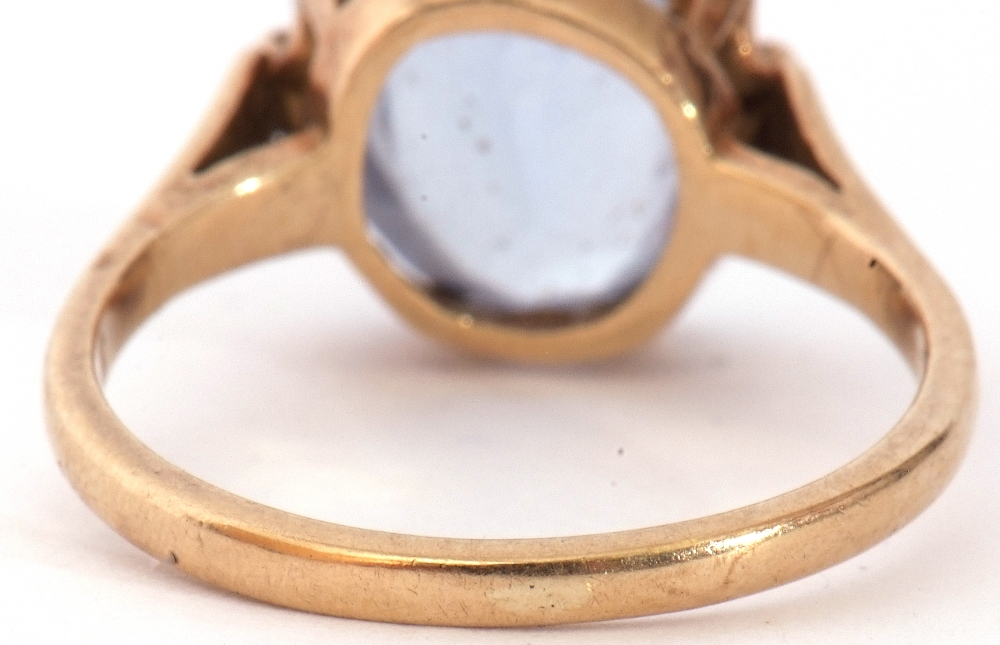 Mixed Lot: 9ct gold blue and paste set dress ring, the oval faceted multi-claw set and raised in a - Image 7 of 9