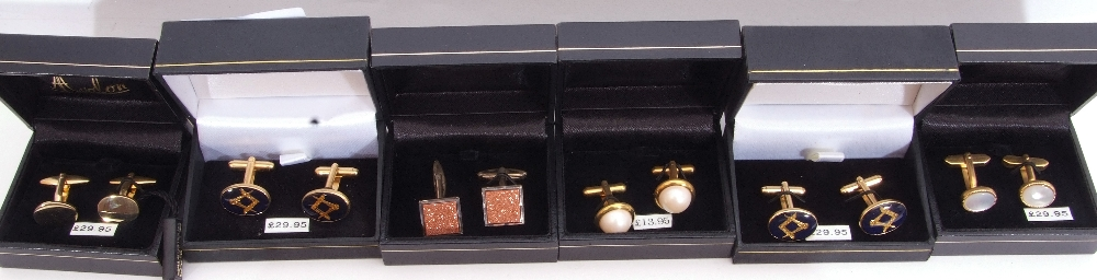Mixed Lot: ten cased gents cuff links - Image 2 of 4