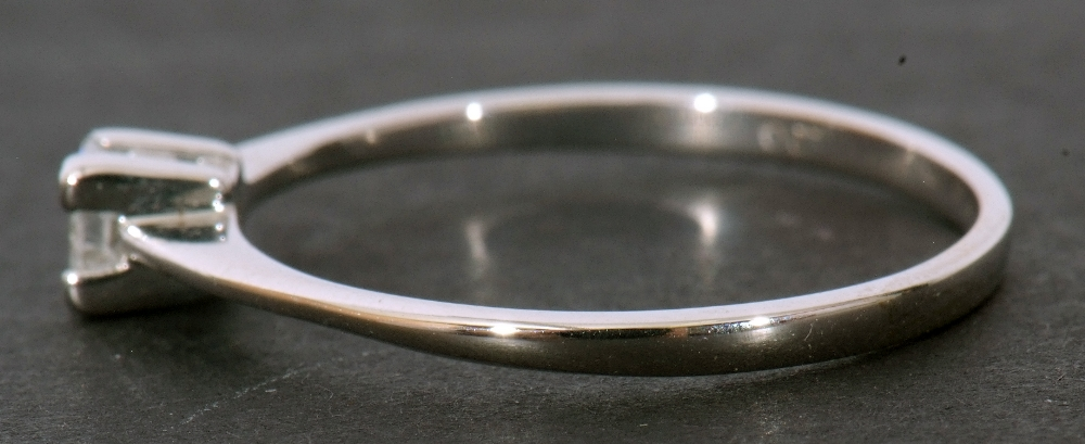 Modern 9ct white gold, diamond single stone ring, featuring a princess cut diamond, 0.20ct approx, - Image 5 of 11