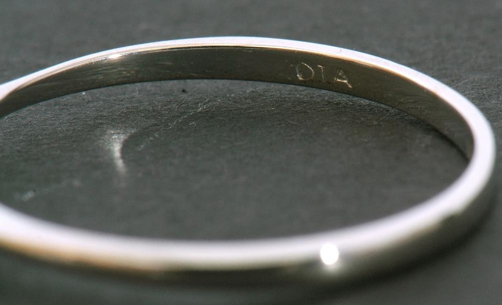 Modern 9ct white gold, diamond single stone ring, featuring a princess cut diamond, 0.20ct approx, - Image 8 of 11